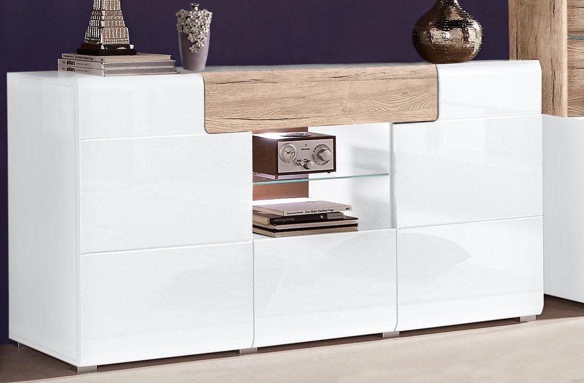 Sideboard Kommode 3 Turig Weiss Eiche Sanremo 159cm 16015 Sideboards Und Kommoden Wohnzimmer Feldmann Wohnen Gmbh Online Shop