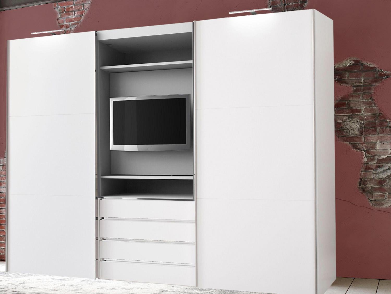 Wimex Magie Schwebeturenschrank Weiss 300cm Kleiderschrank Modern