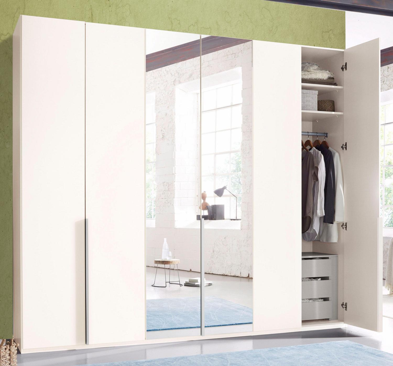 Kleiderschrank Schlafzimmer Schrank New York Weiss 270cm 6 Turig