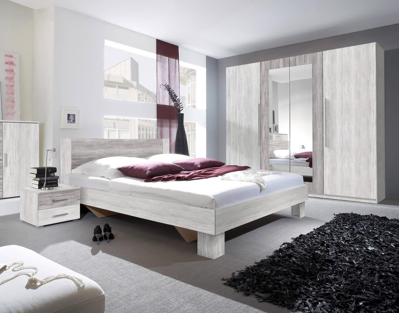 Schlafzimmer Set Bett 180x200cm Arctic Pine Hell Dunkel Kleiderschrank Modern Nachttisch Komplett Schlafzimmer Schlafzimmer Feldmann Wohnen Gmbh Online Shop
