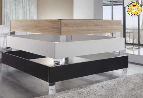 bettgestell bettrahmen ohne kopfteil wei 180x200cm neu. Black Bedroom Furniture Sets. Home Design Ideas