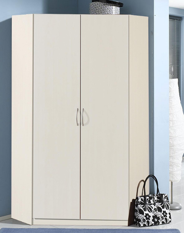 Eckschrank Kleiderschrank Sprint weiß 95x95cm Neu | Kleiderschränke ...