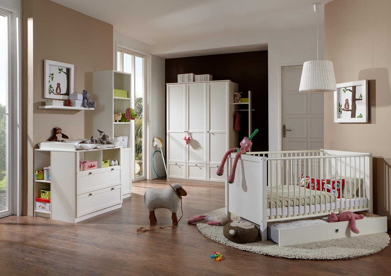 Babyzimmer Set komplett Filou 3-teilig weiß Neu