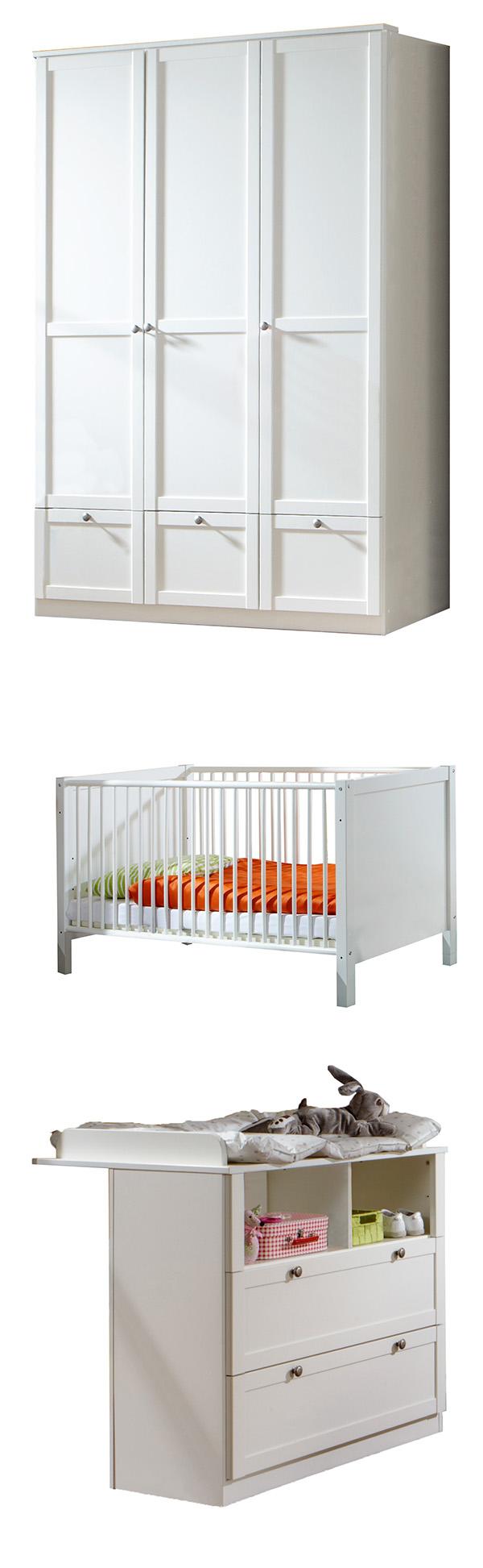 Babyzimmer FILOU (318) 3tlg. 54715360 weiß #W-g