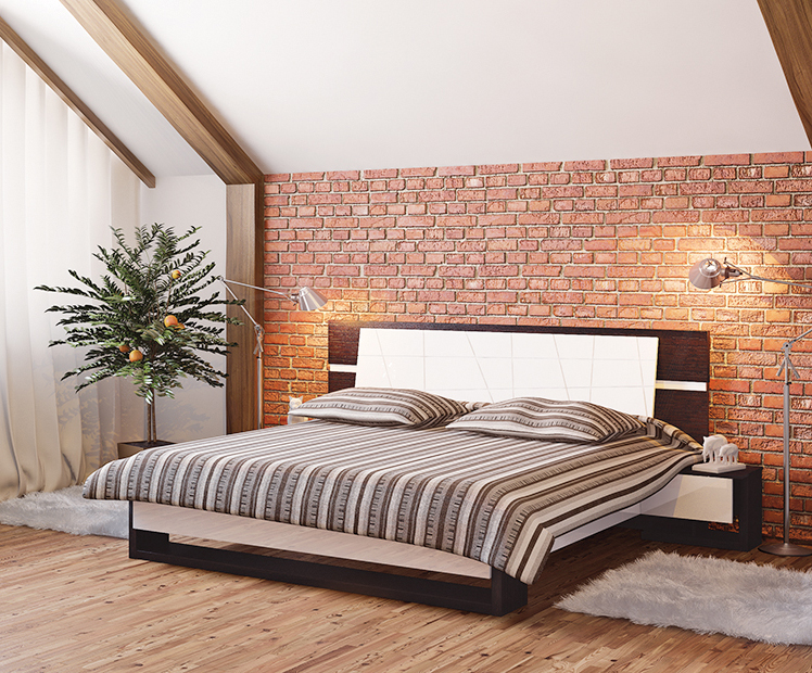 bett doppelbett mit nachtkonsolen eiche niagara wei. Black Bedroom Furniture Sets. Home Design Ideas