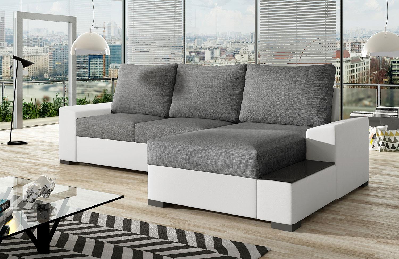 Ecksofa Eckcouch Sofa Couch NEGRO mit Schlaffunktion und ...