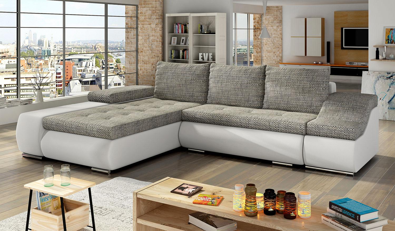 Ecksofa Eckcouch Couch Sofa ONTARIO Bettkasten Schlaffunktion