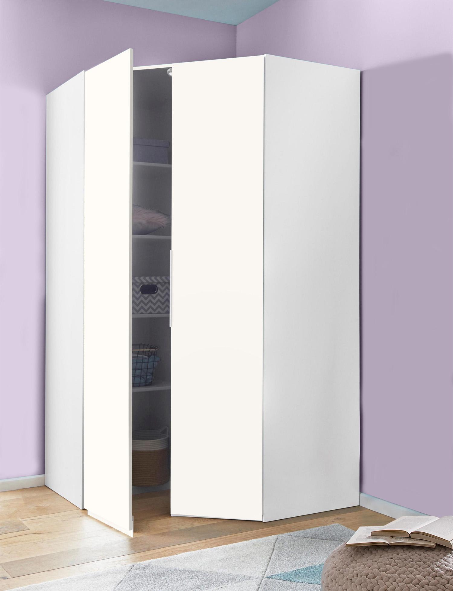 Eckschrank Kleiderschrank Level 18x18cm weiß Schlafzimmer