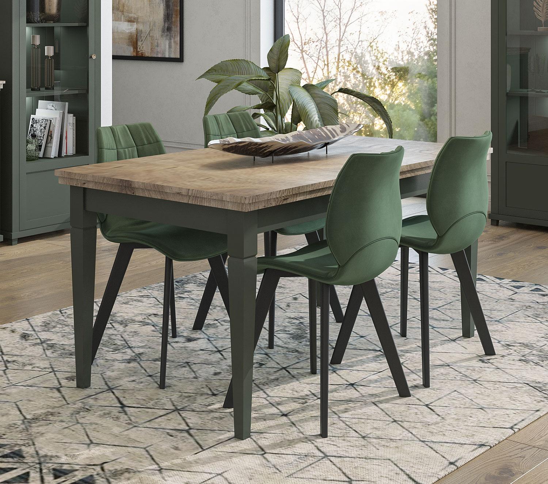 Esstisch Kuchentisch Holztisch 160 240x90cm Grun Eiche Lefkas Landhaus Tische Und Stuhle Esszimmer Feldmann Wohnen Gmbh Online Shop