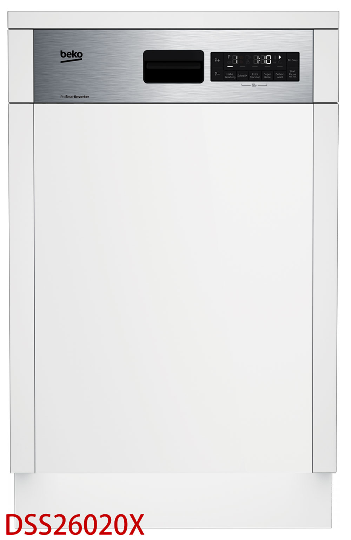 Beko Einbau-Geschirrspüler teilintegriert 45 cm - Ausführung wählbar