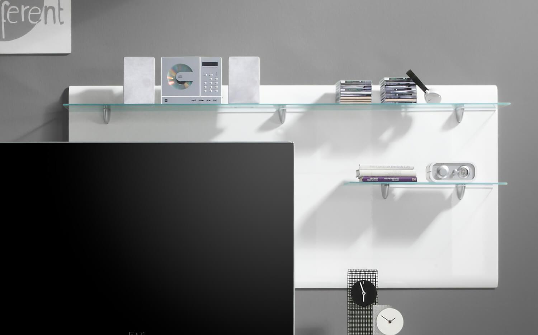 wandpaneel wohnzimmer regal wei hochglanz 170cm neu regale wohnzimmer feldmann wohnen. Black Bedroom Furniture Sets. Home Design Ideas