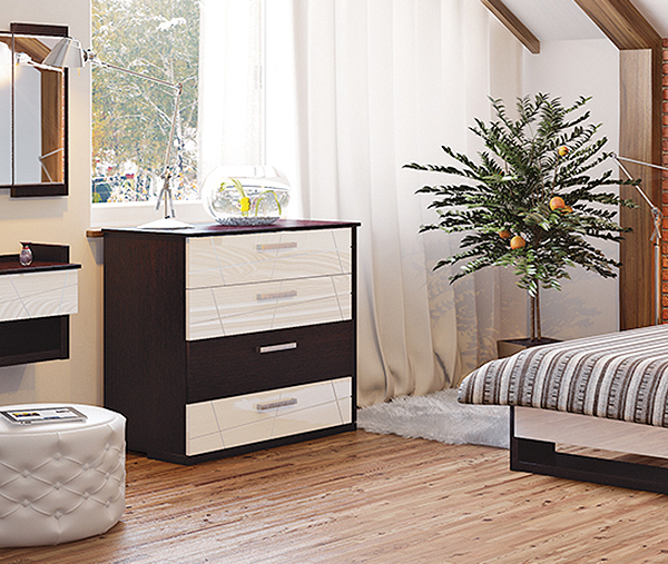 kommode schubladenkommode 98cm eiche niagara wei. Black Bedroom Furniture Sets. Home Design Ideas