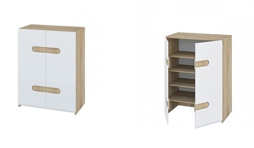 schuhschrank schuhkommode schrank sonoma eiche wei. Black Bedroom Furniture Sets. Home Design Ideas