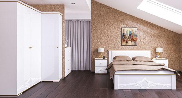 Eck Kleiderschrank Schlafzimmer Schrank 148cm weiß / weiß ...