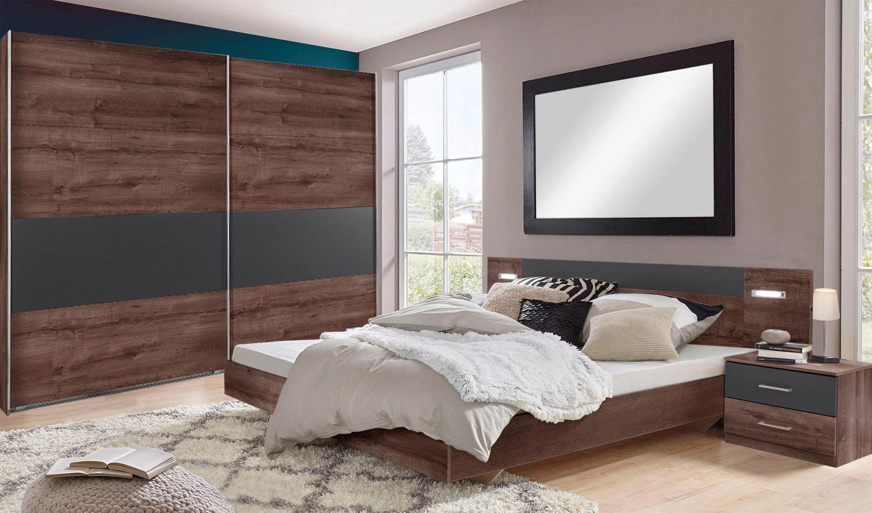 Schlafzimmer Set komplett Angie Bett 180x200 cm schlammeiche ...