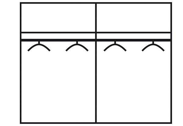 SZ FRANZISKA (785) 758507 eiche-sägerau / weiß (Bett 180x200cm) #W-r