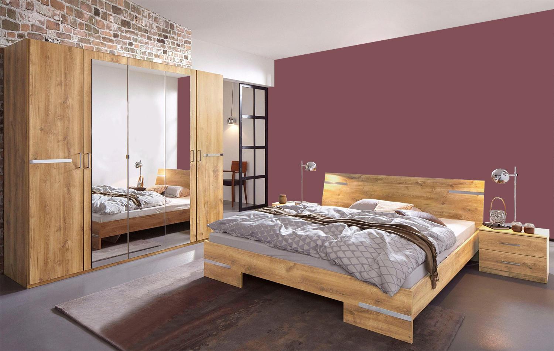 Schlafzimmer komplett Anna 4-teilig plankeneiche Neu | Komplett ...