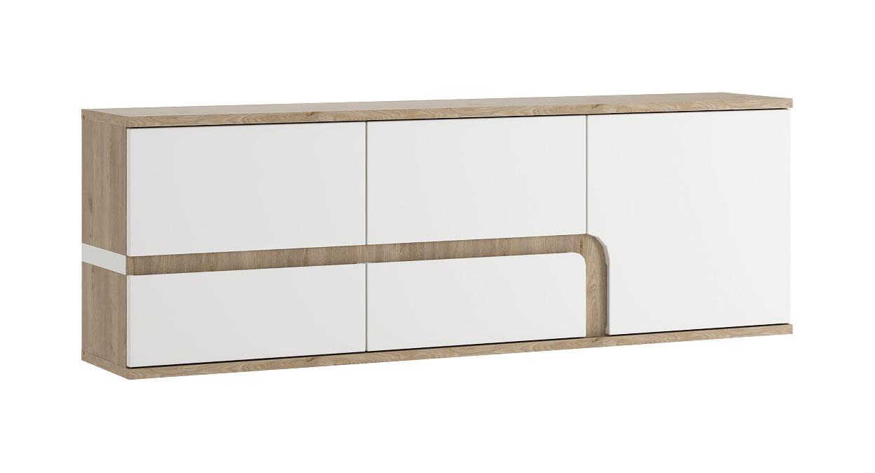 Sideboard 164cm Eiche Nelson Weiss Hochglanz Anrichte Wohnzimmer Modern Sideboards Und Kommoden Wohnzimmer Feldmann Wohnen Gmbh Online Shop