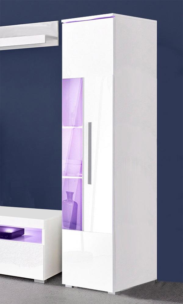vitrine standvitrine vitrinenschrank weiß / weiß hochglanz neu, Wohnzimmer