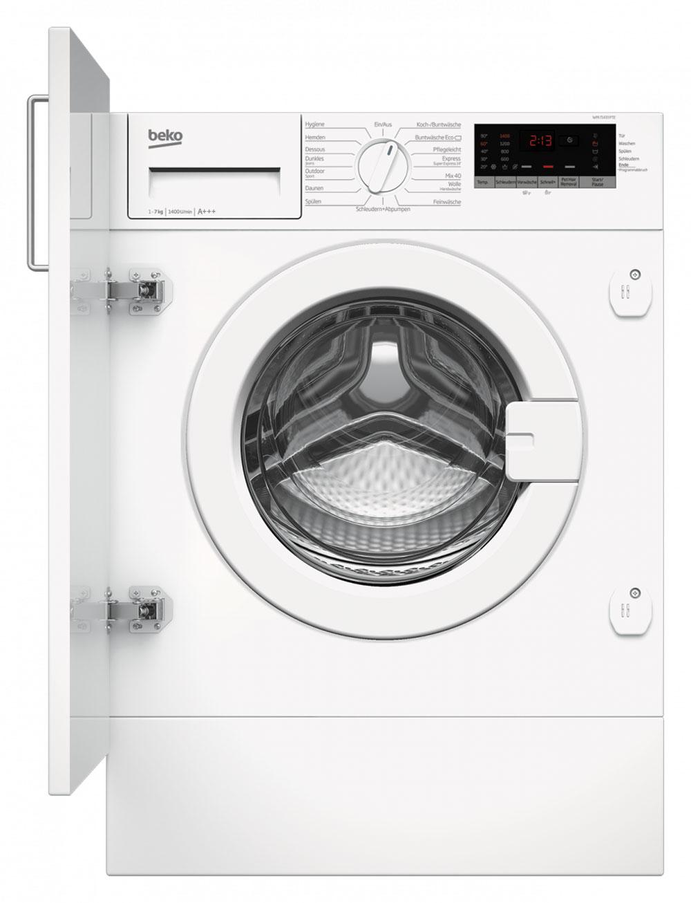 Beko Einbauwaschmaschine Waschmaschine Waschvollautomat WMI71433PTE integrierbar