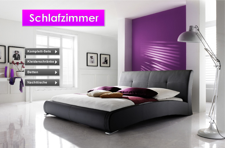 schlafzimmer attraktiv gestalten preiswert bei feldmann online. Black Bedroom Furniture Sets. Home Design Ideas