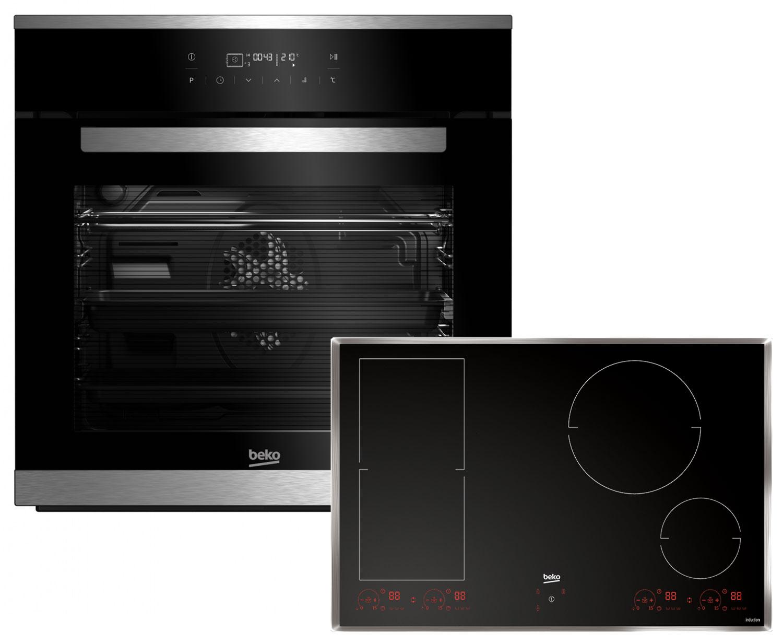 Beko Premium Set Backofen BIM25402X + Kochfeld Ausführung wählbar
