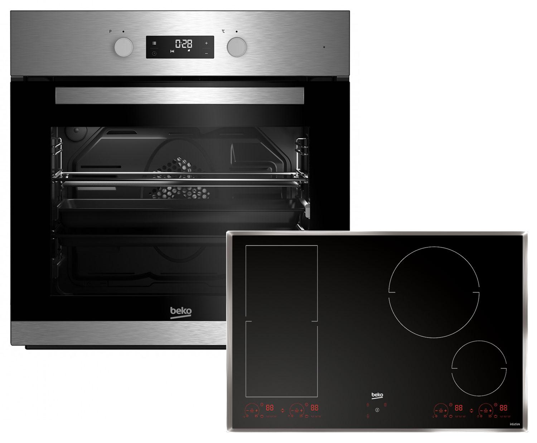 Beko Premium Set Backofen BIM22304X + Kochfeld Ausführung wählbar