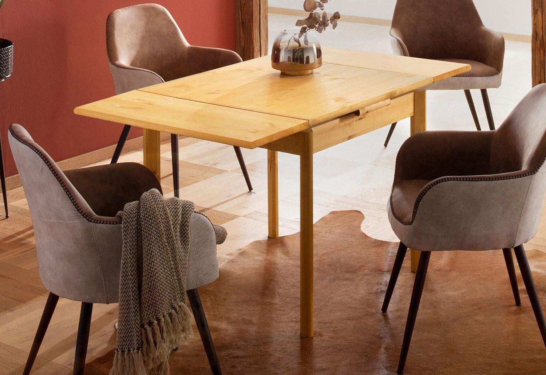 Esstisch Kuchentisch Tisch Landhaus Ausziebar Kiefer Massiv Farbe Und Lange Wahlbar Tische Und Stuhle Esszimmer Feldmann Wohnen Gmbh Online Shop