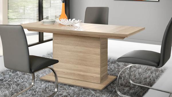 esstisch säulentisch küchentisch 160-200x90cm sonoma eiche