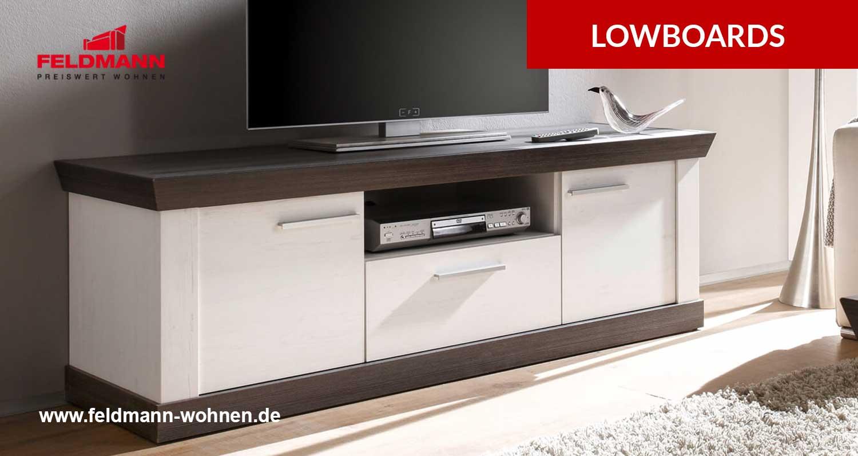 Lowboards für das Wohnzimmer günstig bei Feldmann online kaufen