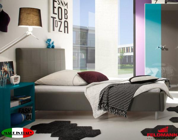 polsterbett bett mit kopfteil anthrazit kunstleder 180x200cm neu. Black Bedroom Furniture Sets. Home Design Ideas
