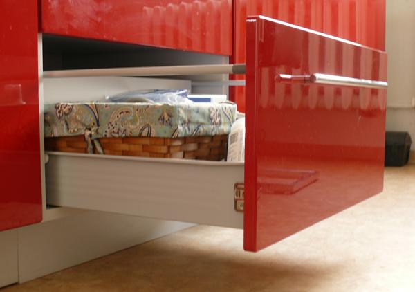 Küchenzeile TITANIUM Jersey / Fino Weiß (fino Biale) 230cm #dv16 ...
