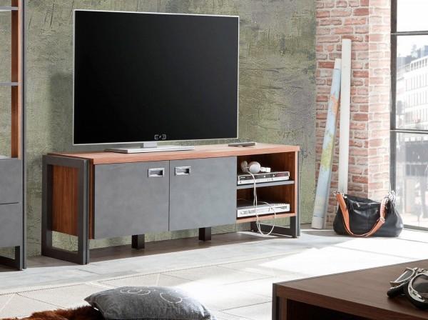 Lowboard Detroit TV-Unterschrank 160cm stirling oak schiefer Industrial-Design