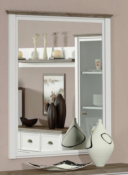 Spiegel Wandspiegel Chateau weiß eiche san remo 105x95cm