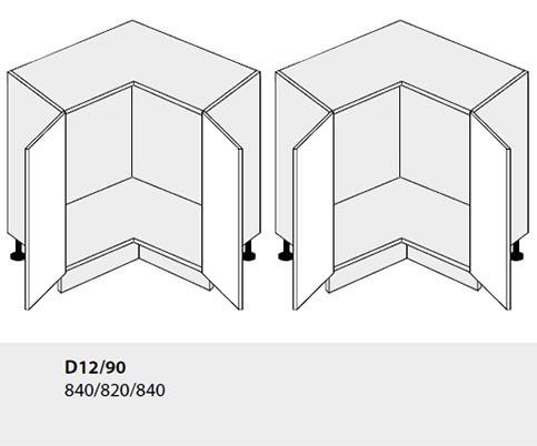 U-Form Küchenzeile mit Homeslim-Auszug bergesche himmelblau - Ausstattung wählbar