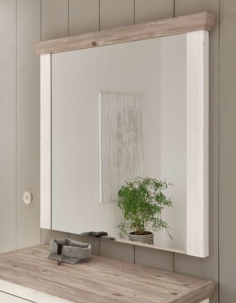 Spiegel Florenz 107x110cm Wandspiegel pinie weiß oslo pinie Flurspiegel
