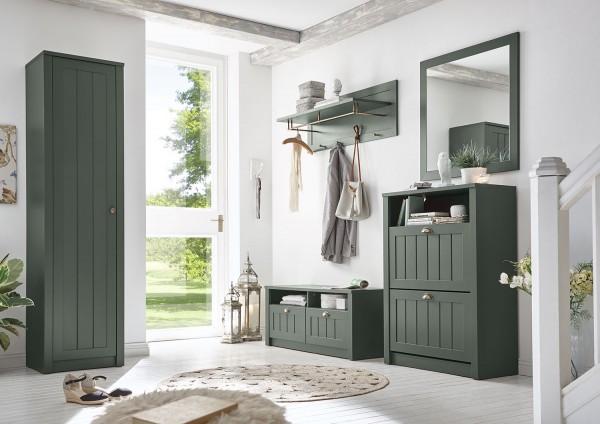 Ascot Garderobe Dielen Set Flurgarderobe 5-teilig 273cm grün Landhaus