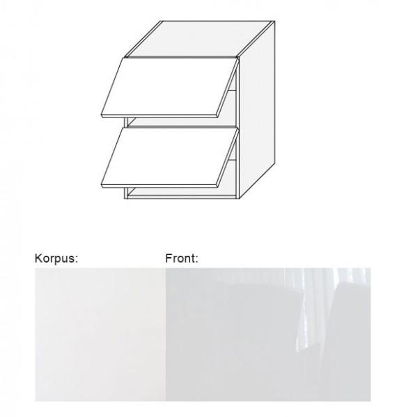 Hängeschrank (EST-WEP/60) mit Klappe 60cm weiß - Acryl weiß Hochglanz