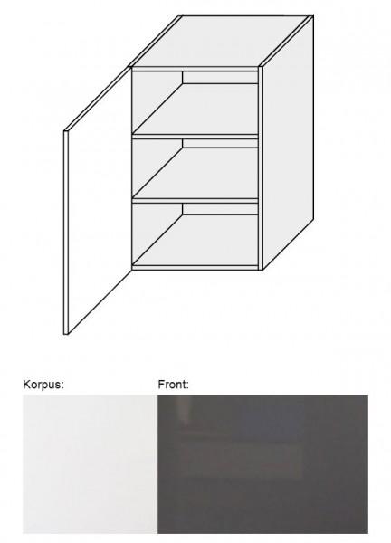 Hängeschrank EST-WE/50 50cm weiß Front Acryl graphit Hochglanz