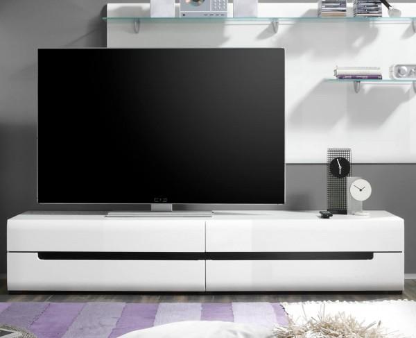 Lowboard 2497AJ-40 TV-Element weiß 180cm Front MDF Hochglanz