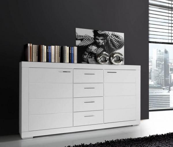 Sideboard Kommode Anrichte 2trg Schubladen 170cm weiß matt Neu