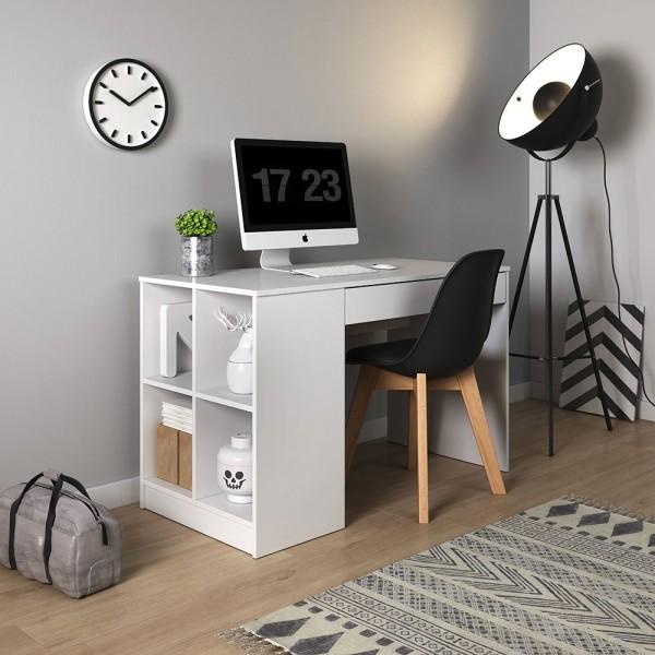 """Schreibtisch """"Antek"""" Computertisch 120x60cm weiß"""