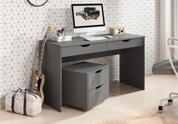 Schreibtisch Computertisch Rollcontainer 138x50cm Ausführung wählbar Modern