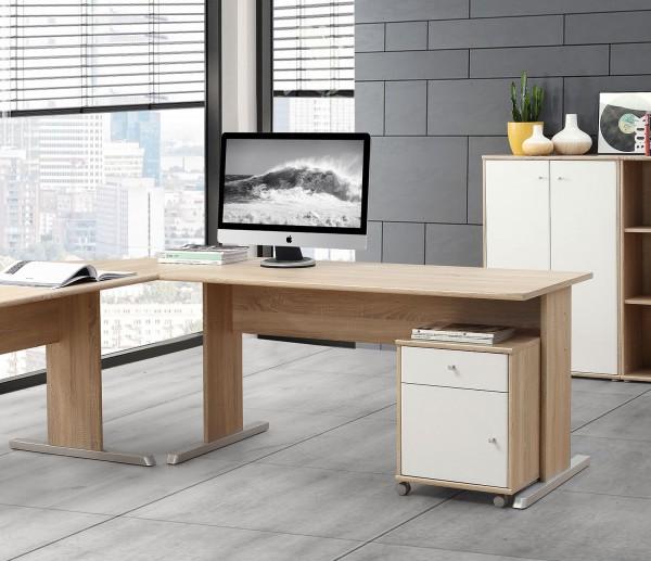 Schreibtisch Computertisch 144x72cm sonoma eiche Neu