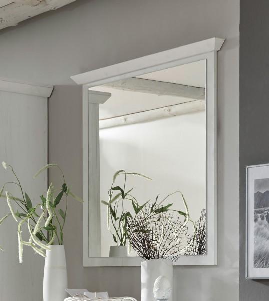 Flurspiegel Westerland Wandspiegel 99x92cm pinie weiß Landhaus-Stil