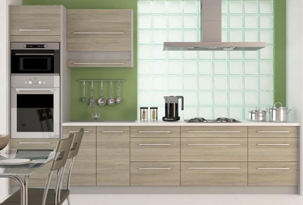 """Küchenzeile """"Silver"""" Einbauküche 330cm bergesche latte"""