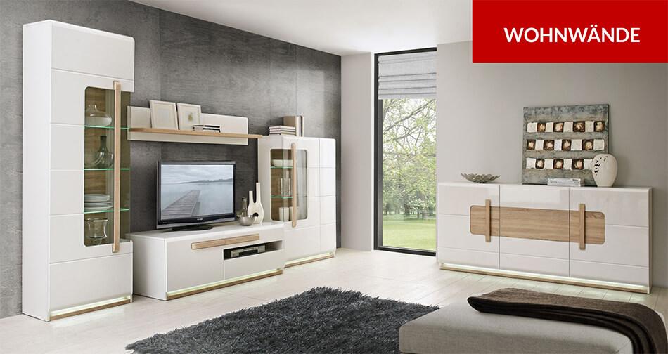 wohnw nde f r das wohnzimmer g nstig bei feldmann online. Black Bedroom Furniture Sets. Home Design Ideas